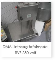 DMA lintzaag tafelmodel RVS 380 volt