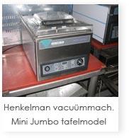 Henkelman vacu�mmachine Mini Jumbo tafelmodel