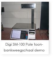 Digi SM-100 pole toonbankweegschaal demo